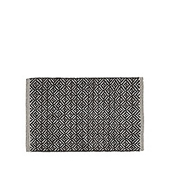 J by Jasper Conran - Dark grey geometric woven bath mat