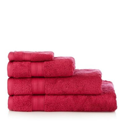 308010631208: Bright red Hygro Egyptian cotton towels