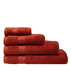Debenhams - Burnt Orange Hygro Egyptian Cotton Towels