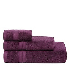 Debenhams - Dark purple Hygro Egyptian cotton towels