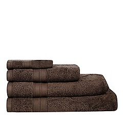 Debenhams - Chocolate brown Hygro Egyptian cotton towels