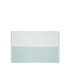 Home Collection - Aqua colour block bath mat