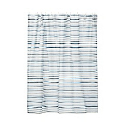 Home Collection - Blue stripe print shower curtain