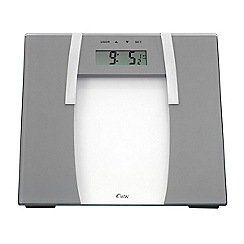 Weight Watchers - Sliver ultra slim glass body analyser scale