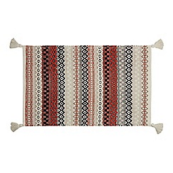 Home Collection - Multi-coloured 'Hygge' woven bath mat