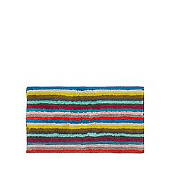 Home Collection Basics - Multi-coloured 'Lizzie' striped bath mat