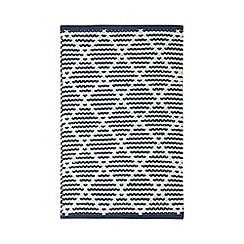 Home Collection - Blue textured bath mat