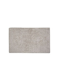 J by Jasper Conran - Light grey extra large reversible bath mat