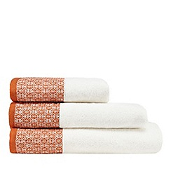 Home Collection Orange Woven Header Towel