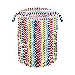 Home Collection Basics - Multicoloured chevron pop up bin