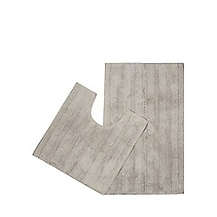 Home Collection - Silver pedestal and bath mat set