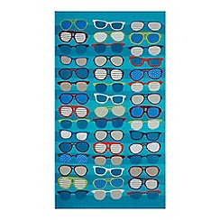 Home Collection - Multi-coloured sunglasses print beach towel