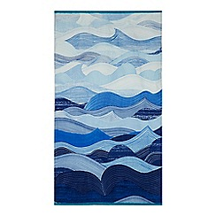 Home Collection - Blue wave print beach towel