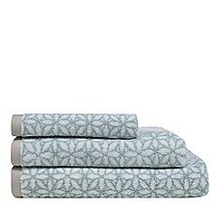 Home Collection - Aqua floral print towel