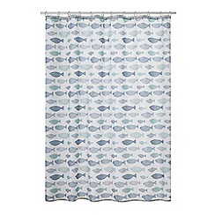 Home Collection - Blue Hastings fish print shower curtain