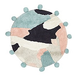 Home Collection - Multi-coloured circle pom pom bath mat