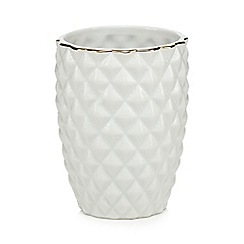 Butterfly Home by Matthew Williamson - White ceramic pineapple toothbrush holder