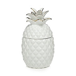 Butterfly Home by Matthew Williamson - White ceramic pineapple storage jar