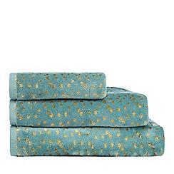 Home Collection - Aqua 'Cosmo' metallic dot hand towel