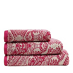 Butterfly Home by Matthew Williamson - Pink mandala print towel