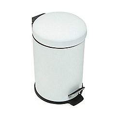 Debenhams - White pedal bin
