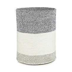 Debenhams - Blue 'Hastings' striped basket
