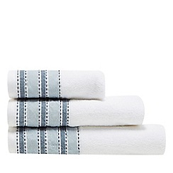 J by Jasper Conran - Aqua striped border towel