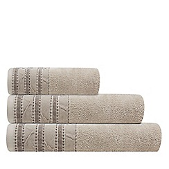 J by Jasper Conran - Natural striped border towels