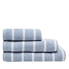 J by Jasper Conran - Blue marl stripe towels