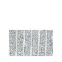 Home Collection - Light blue marl striped bath mat