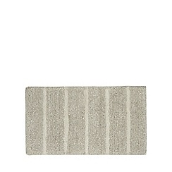 Home Collection - Pale grey marl striped bath mat