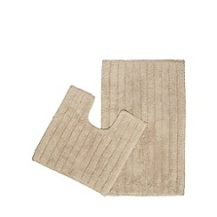Home Collection - Natural pedestal and bath mat set