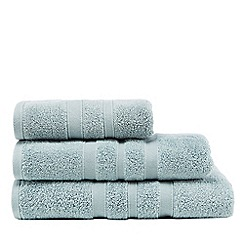 J by Jasper Conran - Light green textured striped towels
