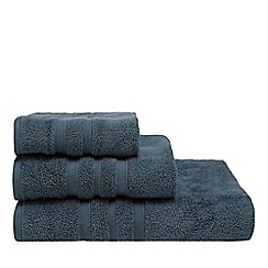 J by Jasper Conran - Blue textured striped towels