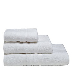 J by Jasper Conran - White textured striped towels