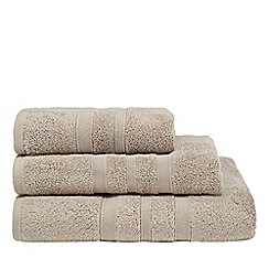 J by Jasper Conran - Taupe textured striped hand towel