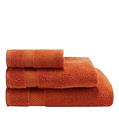 Christy - Orange cotton towels