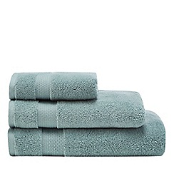 Christy - Aqua blue cotton towels