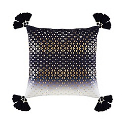 Abigail Ahern/EDITION - Navy 'Kali' ombre-effect cushion