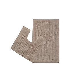 Christy - Natural pedestal and bath mat set