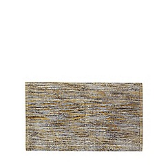 Home Collection - Yellow and grey striped bath mat