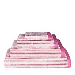 Emily Bond - Pink striped 'Ticking' towel