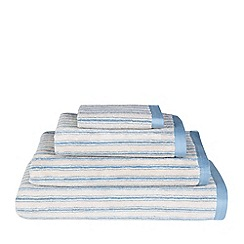 Emily Bond - Blue striped 'Ticking' towel