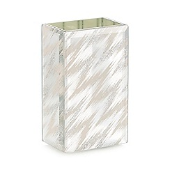 Star by Julien Macdonald - Silver glitter zigzag toothbrush holder