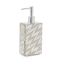 Star by Julien Macdonald - Silver glitter zigzag soap dispenser