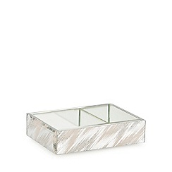 Star by Julien Macdonald - Silver glitter zigzag soap dish