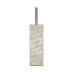 Star by Julien Macdonald - Silver mirrored glass toilet brush holder