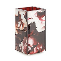 Star by Julien Macdonald - Wine red rose print toothbrush holder