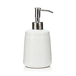 Home Collection - White 'Scandi' retro soap dispenser