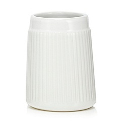 Home Collection - White 'Scandi' retro toothbrush holder